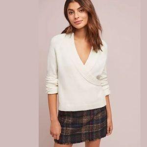 Anthropologie ett twa Tessa faux wrap sweater